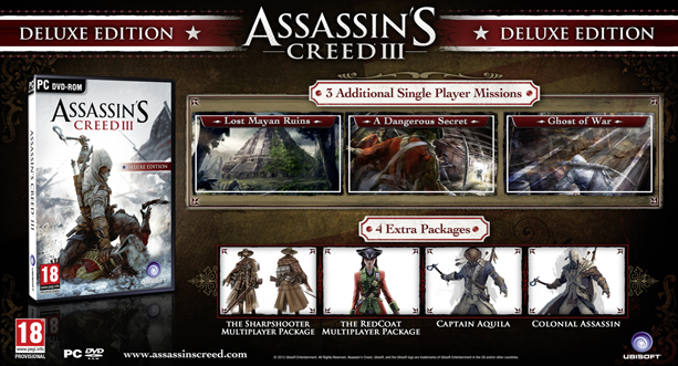 Buy Assassons Creed 3 Deluxe Edition cheap