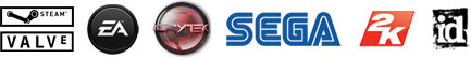 Steam, Valve, EA, Crytek, SEGA, 2K Games, ID Software