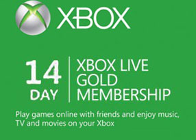 Microsoft Xbox Live 14 Day Gold Membership Card