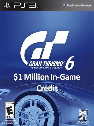 Gran Turismo 6: $1 Million In-Game Credit - PS3 (Digital Code) cd key