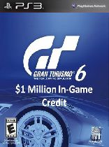Buy Gran Turismo 6: $1 Million In-Game Credit - PS3 (Digital Code) Game Download
