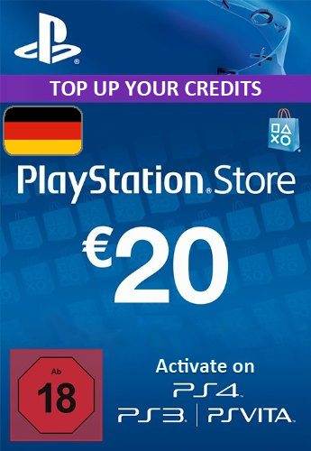 Playstation Network (PSN) Card €20 Euro (Germany) cd key