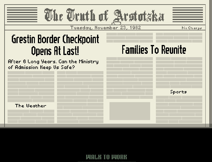 buy papers please game Papers, please the identity project about the issue who we are what we do friends education policy analysis secure flight faq why it won't work in the latest installment of the game of chicken between the department of homeland security and us states and territories over the.