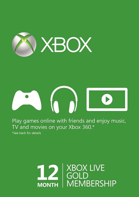 Microsoft Xbox Live 12 Month Gold Membership Card cd key