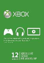 Buy Microsoft Xbox Live 12 Month Gold Membership Card Game Download