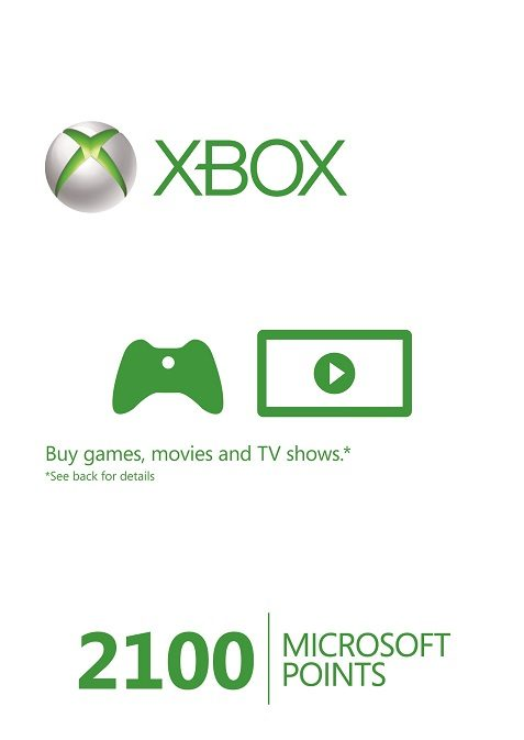 Microsoft Xbox Live 2100 Points (EU) cd key