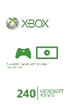 Buy Microsoft Xbox Live 240 Points (EU) Game Download