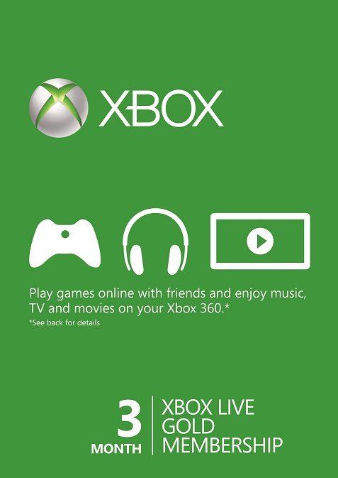 Xbox 360 Xbox One Live Gold 3 Monate