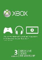 Buy Microsoft Xbox Live 3 Month Gold Membership Card Game Download
