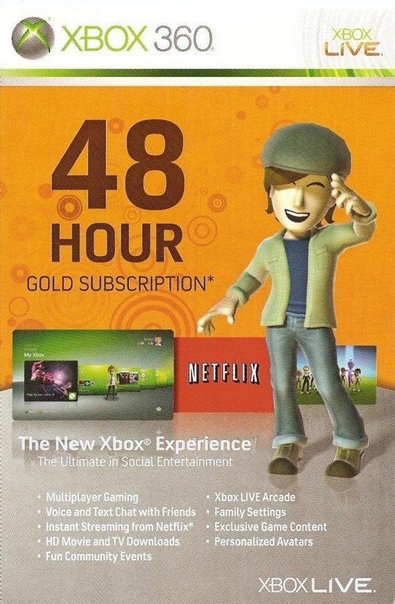 Buy Microsoft Xbox Live 48 Hours Gold Membership Card | Xbox Live