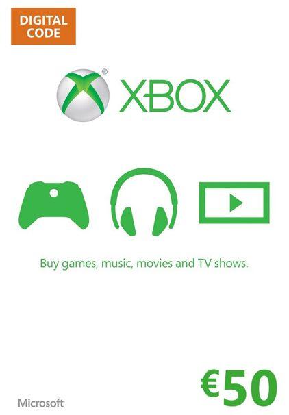 Xbox 360 Xbox One Live Guthaben 50 EUR
