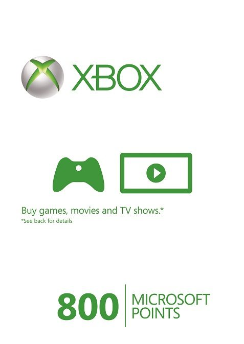 Microsoft Xbox Live 800 Points (EU) cd key