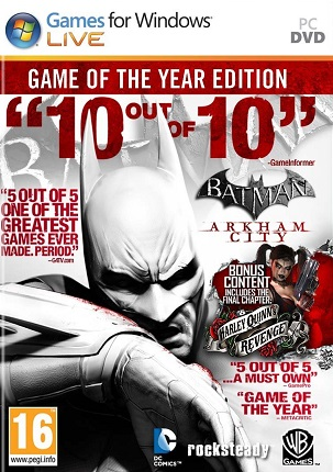 Batman Arkham City GOTY cd key