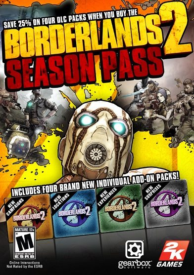 Borderlands 2 Season Pass cd key