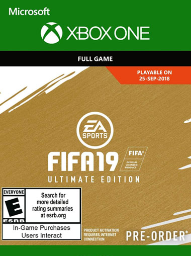 Fifa 19 Ultimate Edition - Xbox One (Digital Code) cd key