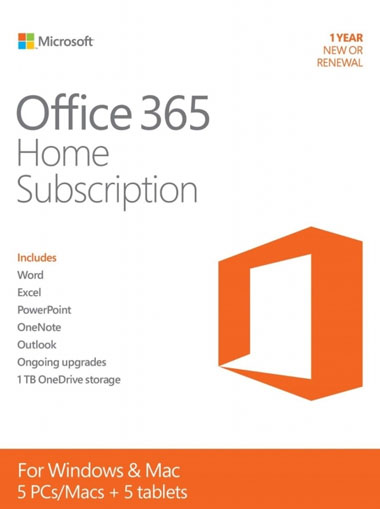 Microsoft Office 365 Home 5 devices 6 Month cd key
