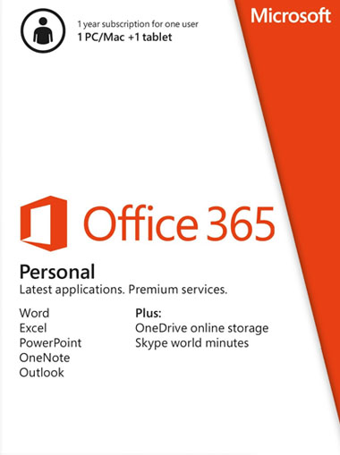 Microsoft Office 365 Personal 1 device 1 Year cd key