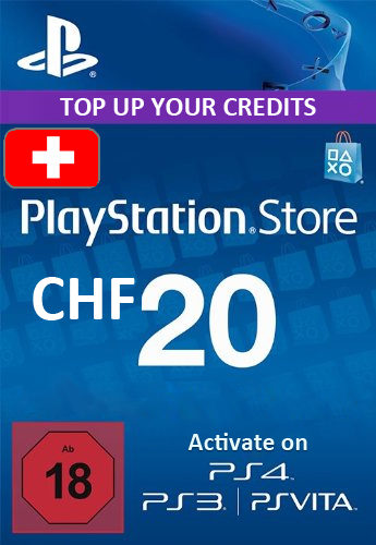 Playstation Network (PSN) Card 20 CHF (Switzerland) cd key