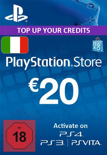 Playstation Network (PSN) Card €20 Euro (Italy) cd key
