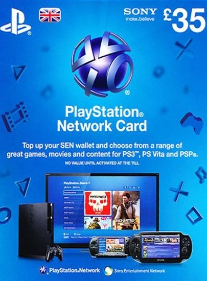 Playstation Network (PSN) Card £35 GBP cd key