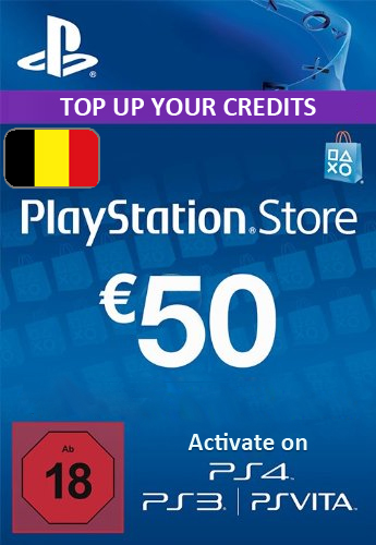 Playstation Network (PSN) Card €50 Euro (Belgium) cd key