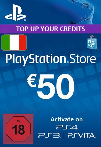 Playstation Network (PSN) Card €50 Euro (Italy) cd key