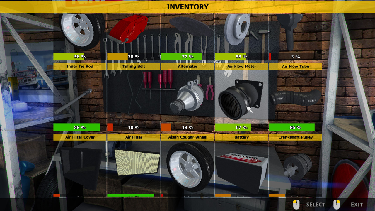 how to buy tyres car mechanic simulator
