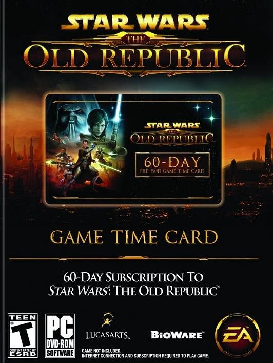 Star WarThe Old Republic SWTOR Gamecard 60 Tage
