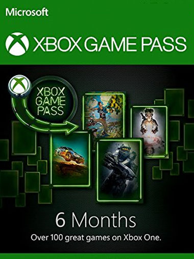 Microsoft Xbox Game Pass 6 Month Membership Card cd key
