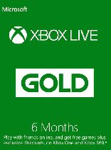 Buy Microsoft Xbox Live 6 Month Gold Membership Card Game Download