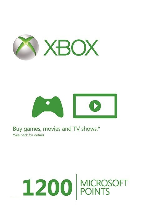 Microsoft Xbox Live 1200 Points (EU) cd key