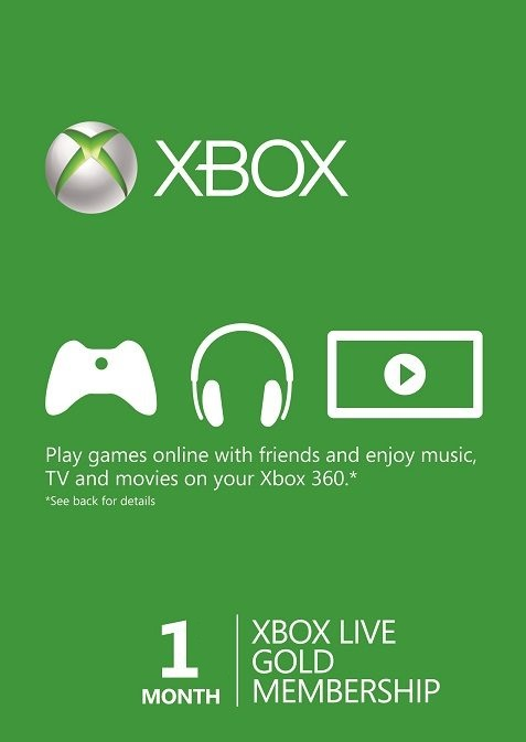 Microsoft Xbox Live 1 Month Gold Membership Card cd key